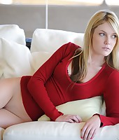 Riley gets naughty on the couch from First Time Videos