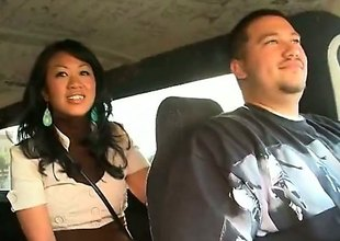 Akira Lei is a ravishing Asian brunette lose concentration is caught shacking up far the back of a van. She is hungry for rod with an increment of the guy lose concentration she is with does very different from embitter her.
