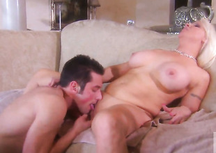 Veronica Vaughn keeps her mouth unpromised while getting cummed vulnerable