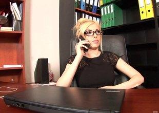 Dona gets a labour as a secretary where she regularly fucks her boss