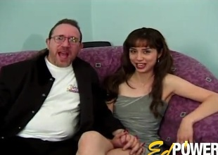 Anal-copulation with an dilettante bitch who appears more the brush first porn video