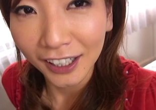 Kinky Japanese girl talks primarily the call up whilst getting fucked