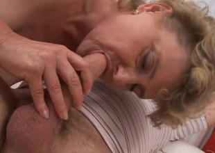 Wild of age virago in ecstasy as A she gets their way shaved slit ravished