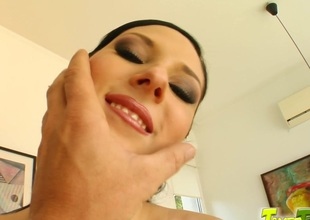 Nicole E lets one studs destroy say no to holes in breath-taking MMF clip