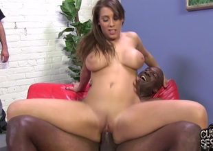 Cuckold licks black guy's fiasco off his wife's feet