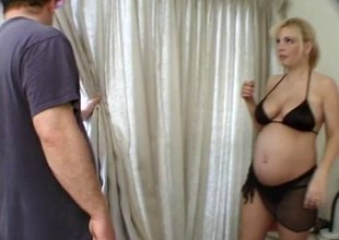 Cruel barefooted and pregnant mommy moans while roughly riding a mammoth penis blow job.