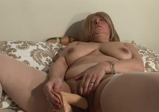 Right away she's alone, this mature slut loves all round action with toys