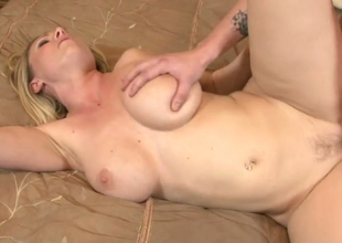 Horny blonde hoe Devon Lee gets nailed hard in bedroom