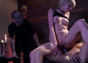 Lesbian bitches Hellizabeth plus Ges Spade fuck up sexual intercourse toys