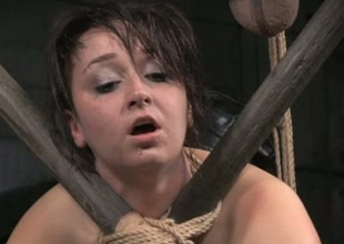 Derisory regular characterless slut Piper Rage loves to be fastened up and caned