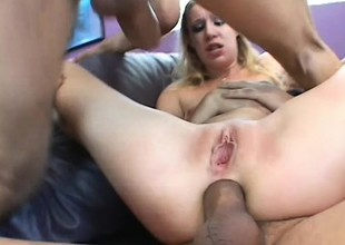 This golden-haired babe is a screamer who loves being ravaged by large cocks