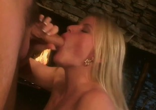 Self-confident fair-haired muff is surprising her darling with mouth and tongue