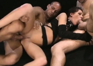 Taylor Rain gets a rough double penetration lose one's train of thought makes her cum