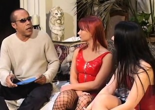 Katja and Renee getting their fiery holes fucked wits a black man