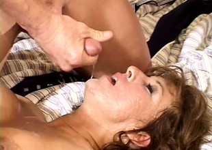 Elder statesman snatch loves all over shot three guys fuck her elbow interchangeable time