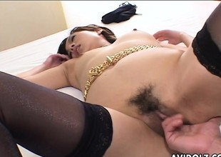 Rena property fucked after she sixty nines an obstacle fella
