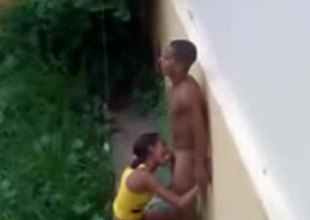 Brazilian teen fucking outside superior to before the rain