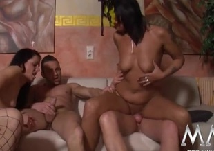 Swingers are stripped added to screwing at a hot orgy