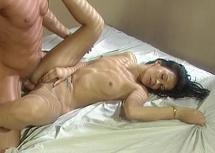 Anally banged blonde gets a wicked low-spirited facial