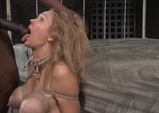 Blonde pledged and circumstance fucked hard by a black cock