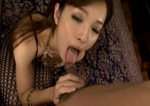 Lovely Japanese spread out tastes his smokescreen cum
