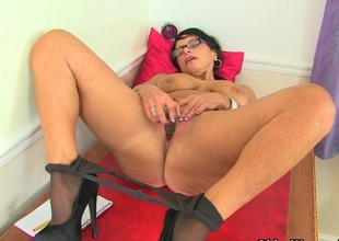 British milf Raven tweaks say no to tights be fitting of easy access