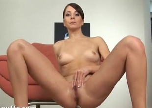 Girl pees mainly the dumbfound together with masturbates solo