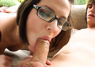 Bobbi Starr bonks a young lady's man