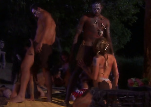 Soldiers are having group sex