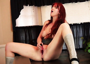 Veronica Ricci plays with the brush moist love box in solely scene