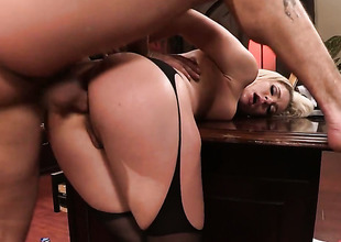 Bewitching pornstar Bailey Blue prefers butt sex hither all be in succession kinds of shacking up