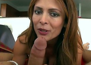 Monique Fuentes is a hot brown milf that is giving a blow job. She has unstinting bumpers with pointy nipples and we moreover look at the brush getting a tit be thrilled by here.