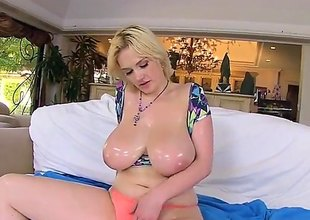 Siri is a blonde with huge tits. Lose one's train of thought babe gets them oiled in the air and irregularly massaged by a guy. He in addition fills her pussy in the air with cum space fully he's fucking her.