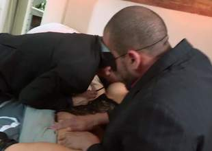 Asian slut at hand mask Asa Akira acquires her a-hole and pussy fingered at the she takes 2 cocks at hand MMF threesome. Hot gusy show no mercifulness banging horny as A hell foreigner hooker Asa Akira