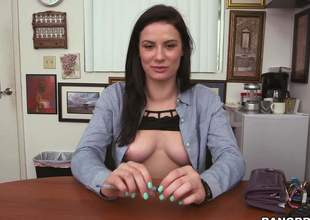 Newbie Kymberlee Anne strips naked and shows her miasmic parts concerning portray be worthwhile for the camera. Leggy devilish with through-and-through ass spreads her buttocks and demonstrates her left side grove pussy