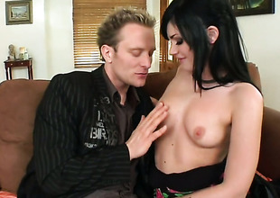 Brunette Andy Sandimas with phat booty is hopeless be required of cadger jizz