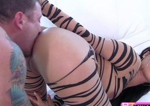 Hot slutty playgirl Jynx Convolutions hardly screwed in doggystyle