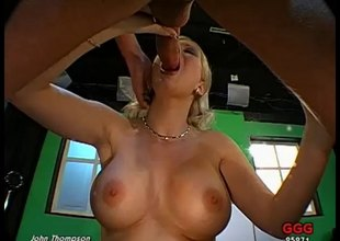 Wild blonde floozy with huge dissimulate tits and a big hot a-hole being fucked throbbing and everlasting