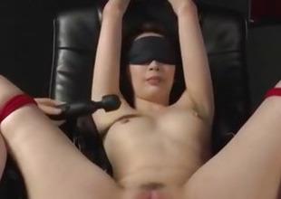 Smashing Asian toy porn in bondage scenes with Aya Kisaki