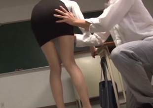 Lustful Asian teachers banging hardcore approximately the classroom