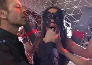 Rocco gets and his two slave babes and nails them hammer away one and hammer away other