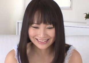 Japanese joyless in panties shaves her love tunnel and got licked