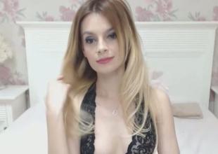 Beautiful Blonde Shemale Masturbates So Good