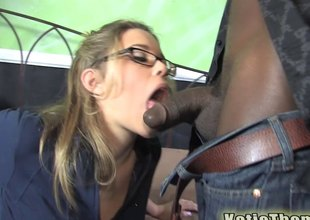 bonny cosset enjoys thrilling by a nigga with a generous cock.