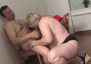 Broad in the beam grown up whore getting fucked