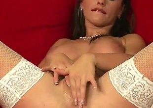 Katerina Hovorkova bares all and masturbates with dildo