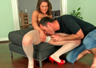 Cute Euro slut in stockings gets fucked so steadfast