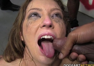 Maddy O'Reilly Sucks A Group For Jet-black Jocks