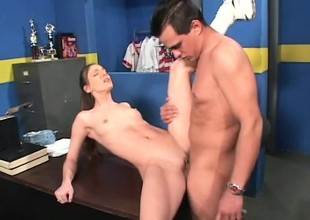 Brandi Lyons takes his substantial Latin shlong balls deep in her hot wazoo