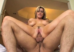 Slutty fair-haired Gia Paloma acquires pumped by two and acquires a lewd DP
